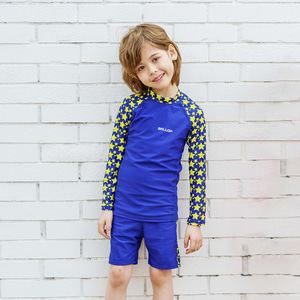 Men Child  RashGuard Star Blue Set