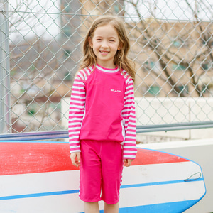 Women Child Rashguard Maple Pink Set
