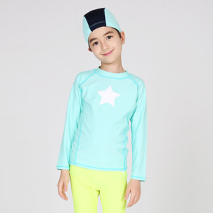 Child Rashguard Rainbow Mint Set
