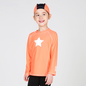 Child Rashguard Rainbow Orange Set