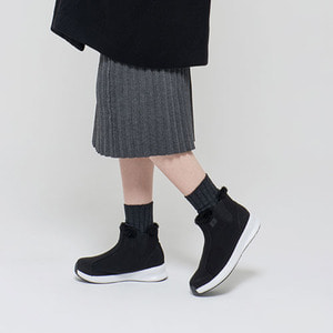 Warm Sneakers Ankle Black