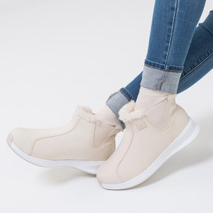 Warm Sneakers Ankle Beige